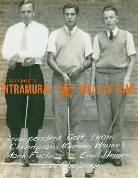 GOLF Independent Champions  Gerson House  Mark Fuchs, E. W. Champman & Emil Heinen