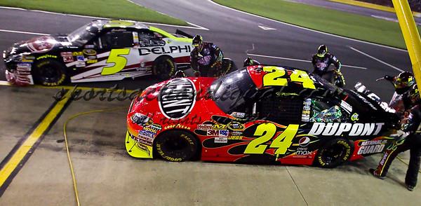 All Star Race Jeff Gordon's Pit 5-22-10