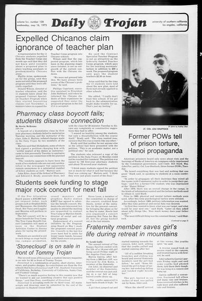 Daily Trojan, Vol. 65, No. 128, May 16, 1973