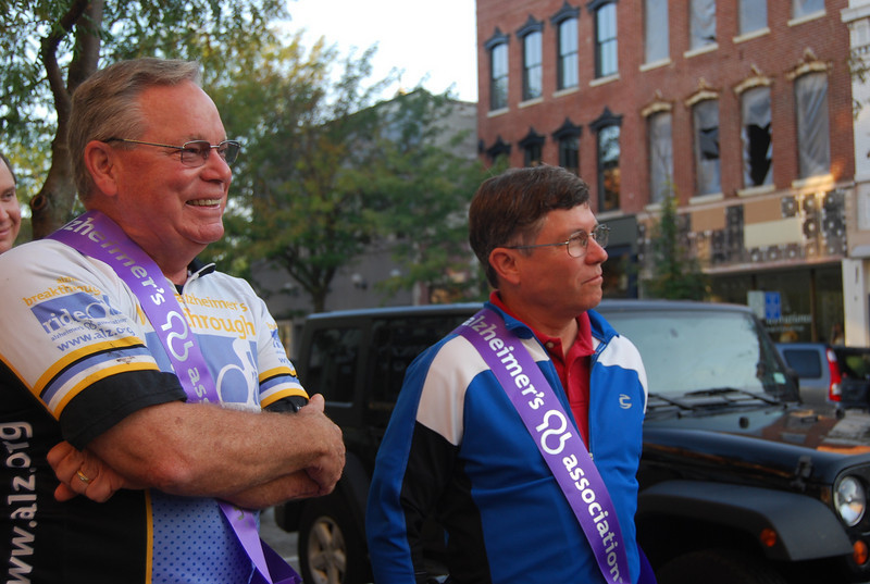 Drs. David Oliver (left) and Ben Timson rode 71 miles and helped collect signatures for the Alzheimer's Breakthrough Ride. You can sign the petition to support them at alz.org.