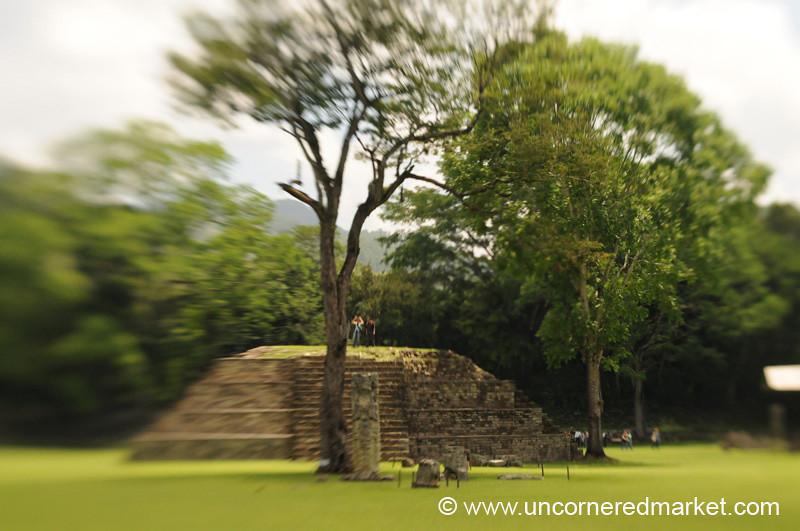 Mayan Ruins Pyramid - Copan Ruinas, Honduras