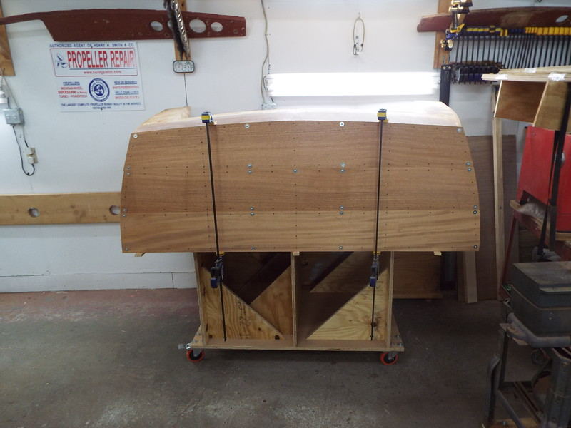 Transom planks fit on the love seat.