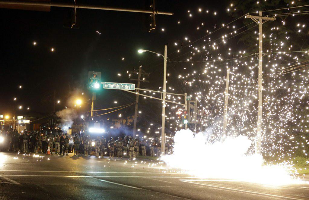 ". 1. FERGUSON (MO.) POLICE <p>Apparently got a really cheap deal on surplus tear gas. (5) </p><p><b><a href=\""http://www.twincities.com/breakingnews/ci_26332971/police-use-tear-gas-ferguson-protesters\"" target=\""_blank\""> LINK </a></b> </p><p>   (AP Photo/Jeff Roberson)</p>"