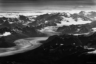 Alaska ~ From 36,000 Feet