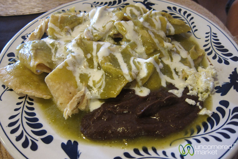 Chilaquiles with Salsa Verde - San Cristobal, Chiapas