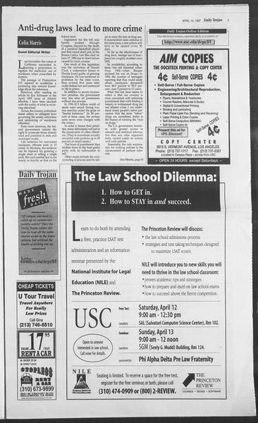 Daily Trojan, Vol. 130, No. 55, April 10, 1997