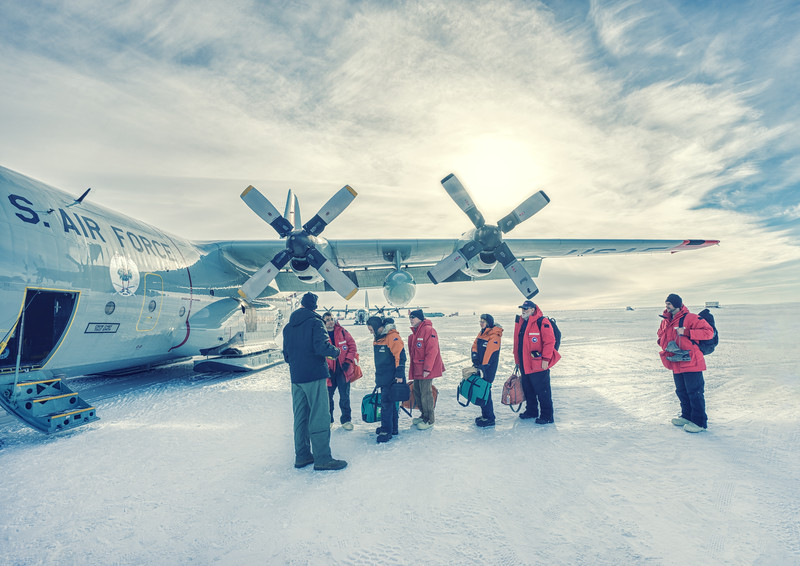 Flying Home from Antarctica