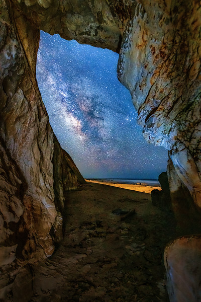 Schooner Beach Sea Cave & Milky Way, Study 1