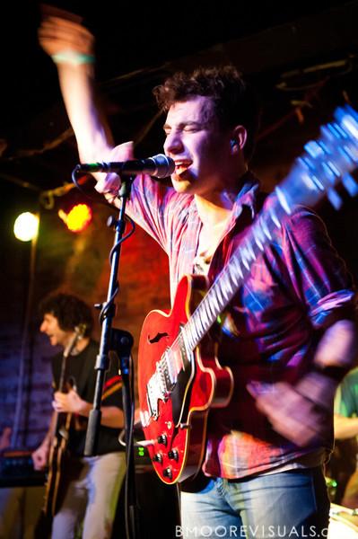 Evan Winiker and Jack Antanoff of Steel Train perform on December 7, 2010 at Orpheum in Ybor City, Tampa, Florida