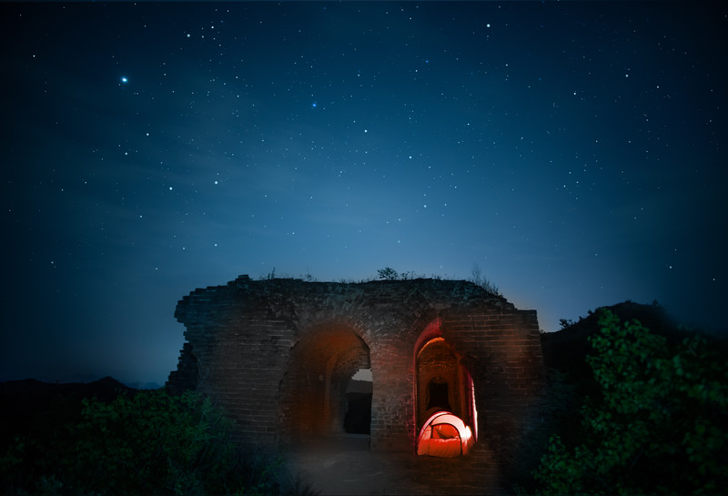 Spending The Night Under The Stars On The Great Wall