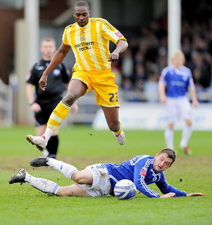Peterborough United v Aston Villa 0-2 & Peterborough United 2 - 3 Newcastle NO FOOTBALL IMAGES FOR SALE OR REPRODUCTION