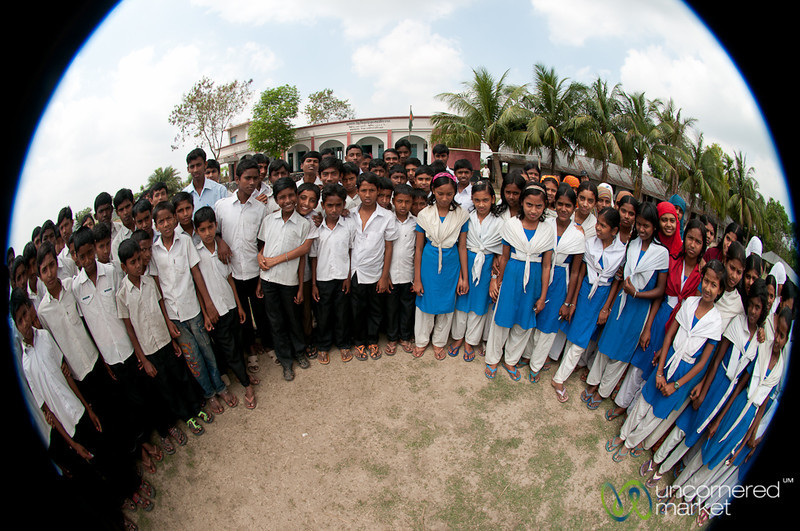 Fisheye View of Students at Rural School - Nabalta, Bangladesh