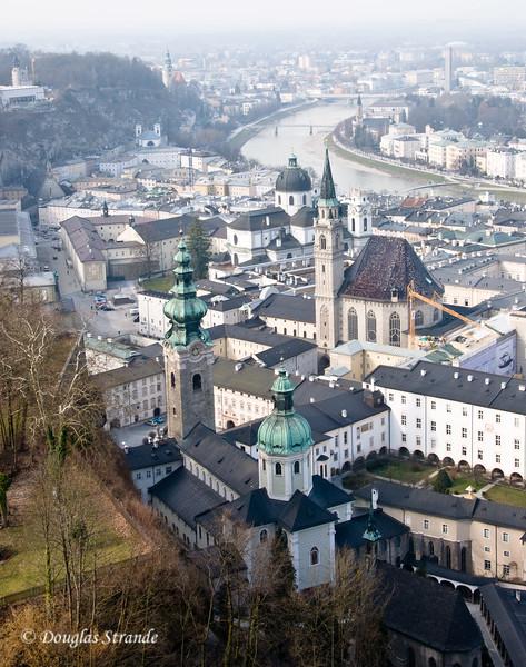 Salzburg overlook from Hohensalzburg Castle