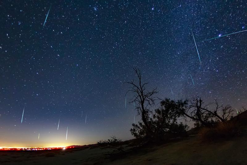 Geminid Meteor Shower 2017 Over El Centro From Dos Cabezas in the Anza-Borrego Desert