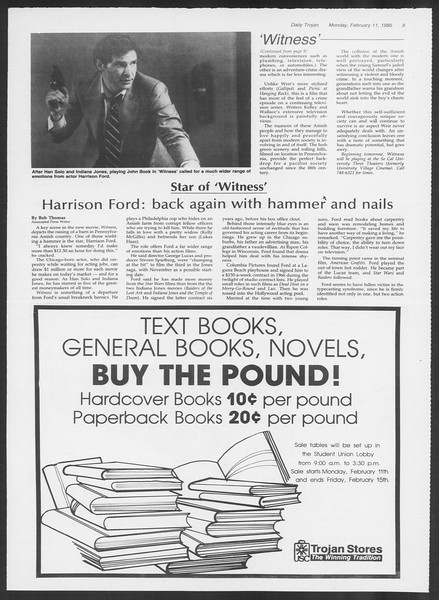 Daily Trojan, Vol. 98, No. 22, February 11, 1985