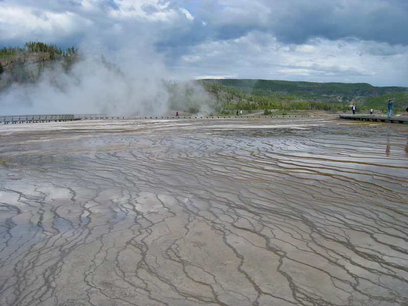 The runoff area near the huge Grand Prismatic Pool