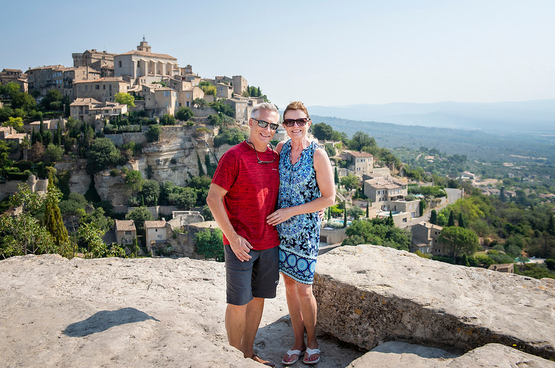 Tim and Jackie in Gordes