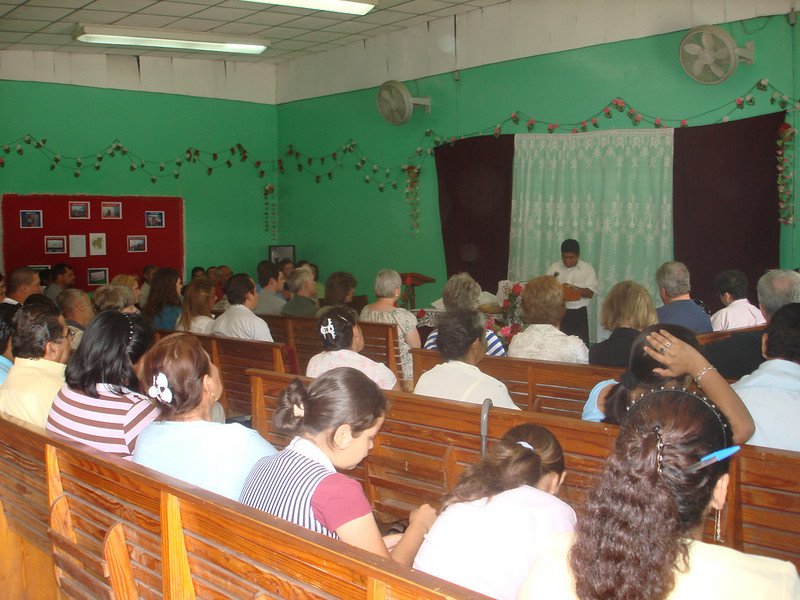 Olive Branch Group attending church in Jinotega at the start of the week