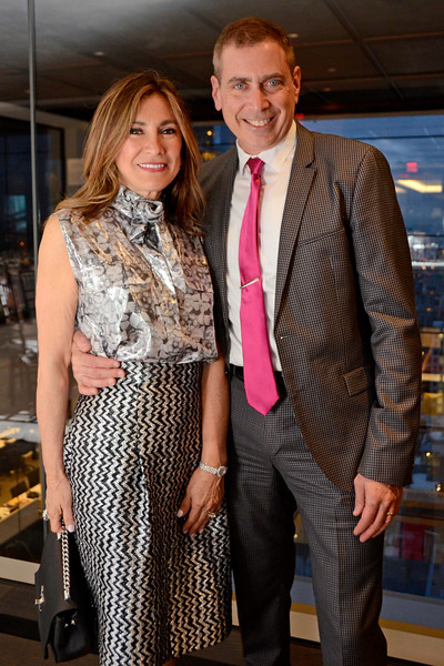 Maria Fishel, Kenneth Fishel AVENUE MAGAZINE Presents the SALON DINNER & CONVERSATION about PUBLIC ART Featuring YVONNE FORCE VILLAREAL 10 Hudson Yards NYC, USA - 2017.04.06 Credit: Lukas Greyson