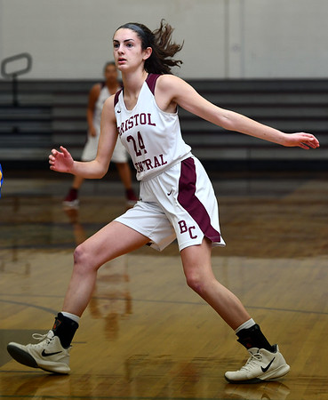 12/31/2019 MIke Orazzi | StaffrBristol Central's Sophia Torreso (24) during Tuesday's girls basketball game with Gilbert in Bristol. r