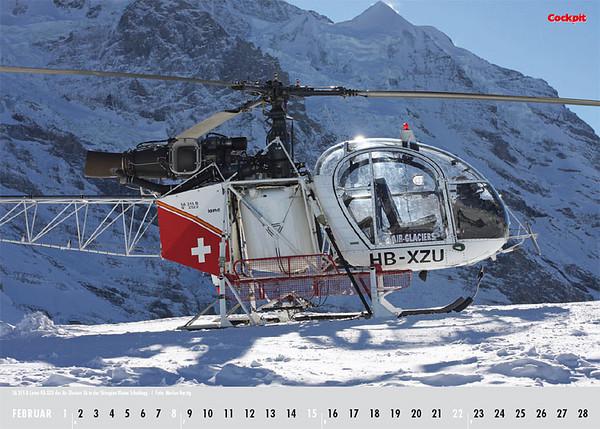 Cockpit Calendar – Feb 2009 - HB-XZU