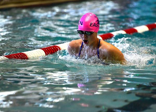 10/12/2019 Mike Orazzi | Staff Bristol Eastern's Kylie Wolfradt during the city swim meet on Saturday night.