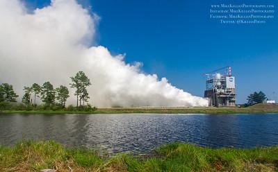 SLS RS-25 Main Engine Test Fire