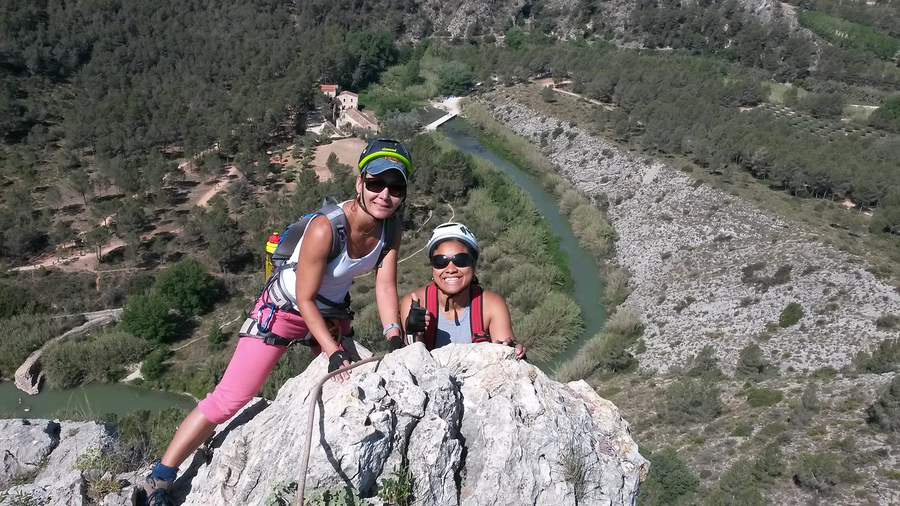 Shay and Lizeth completing the L'Aventador Via Ferrata