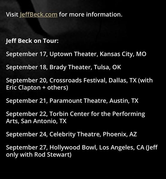 Jeff Beck - 2019 cell photos