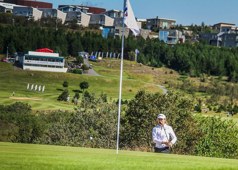 Ragnhildur Kristinsdóttir.  Íslandsmót golf 2019 Grafarholt - 1. keppnisdagur. Mynd: seth@golf.is