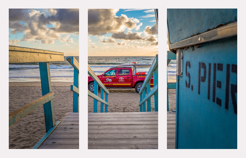 triptych south pier with lifeguard truck.jpg