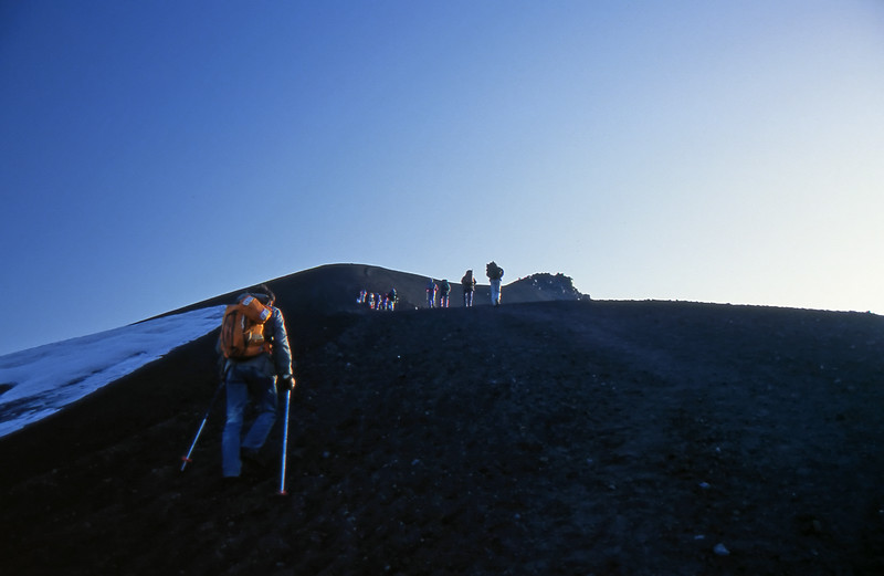 Walking up the Avachinsky Volcano - Kamchatka, Russian Federation - Summer 1993