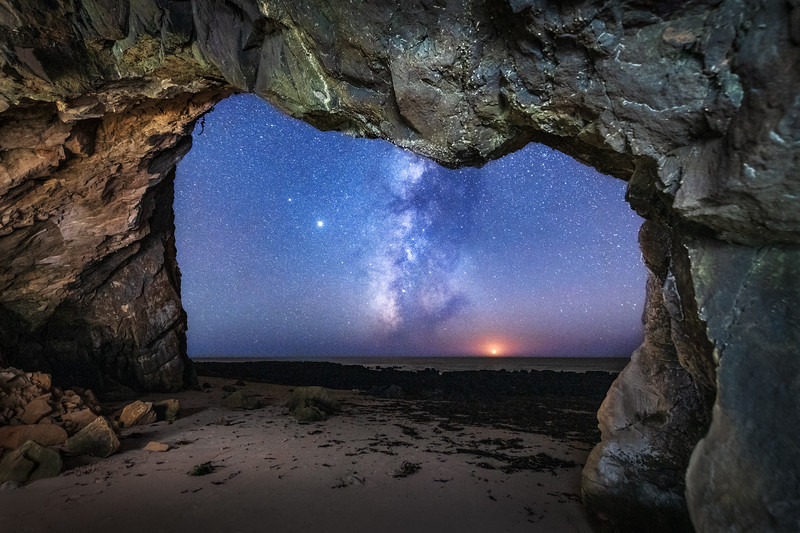 Schooner Beach Sea Cave & Milky Way, Study 4