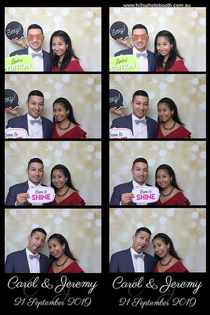 Photobooth photos Jeremy and Carol