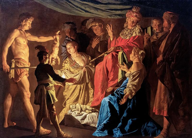 The Judgement of Solomon, Matthias Stom, 1640