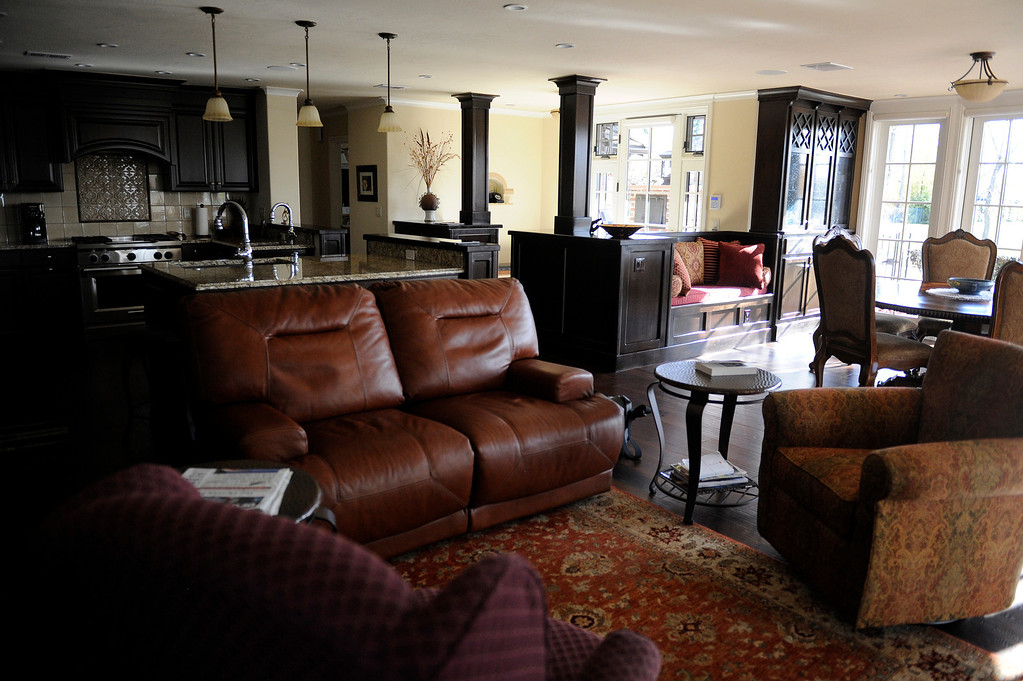 . DENVER, CO - NOVEMBER 13: The redesigned main living room of the Spicer residence on November 13, 2013, in Denver, Colorado. (Photo by Anya Semenoff/YourHub)