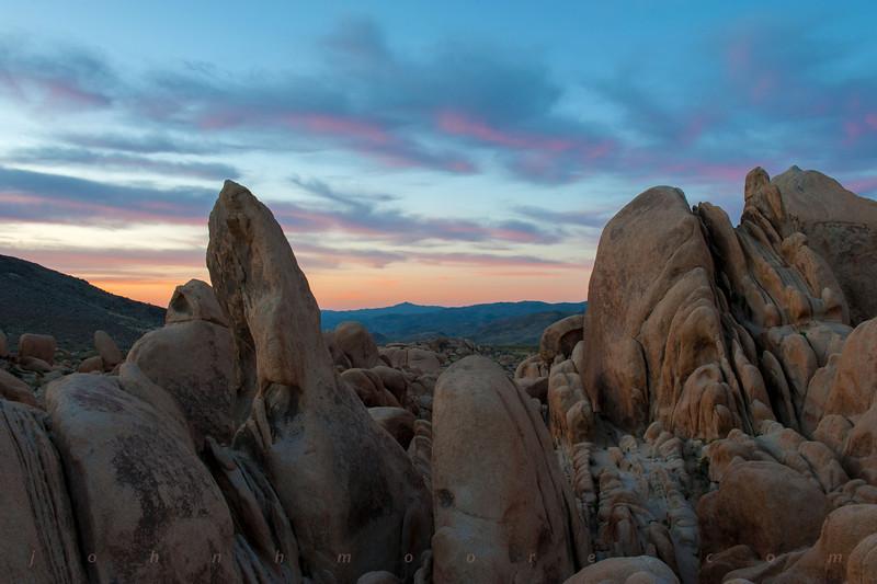 Sunrise boulders