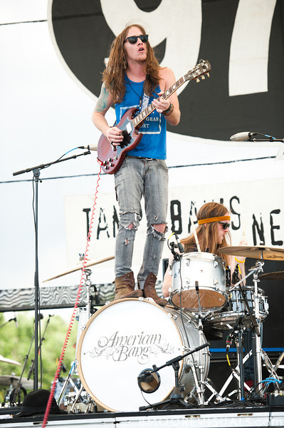 Jaren Johnston and Neil Mason of Amercian Bang perform at the 97x Backyard BBQ at Vinoy Park in St. Petersburg, Florida on May 29, 2010.