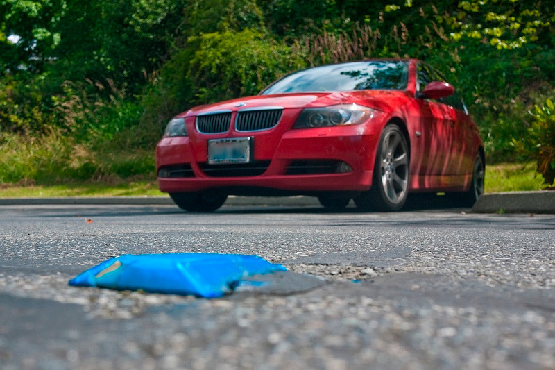 13 Jul 2010: Tried a low-angle shot. It might have worked better with better lighting on the car.