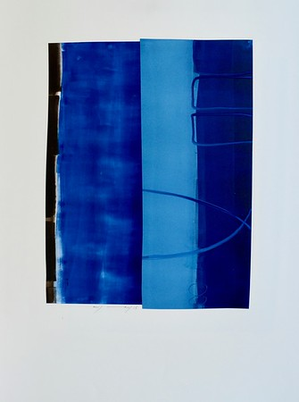 Untitled Blue-Mackey, 22x30 painting on paper (MM15-101)