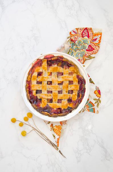 Homemade Peach Blueberry Pie
