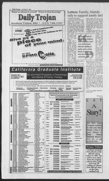 Daily Trojan, Vol. 129, No. 25, October 03, 1996