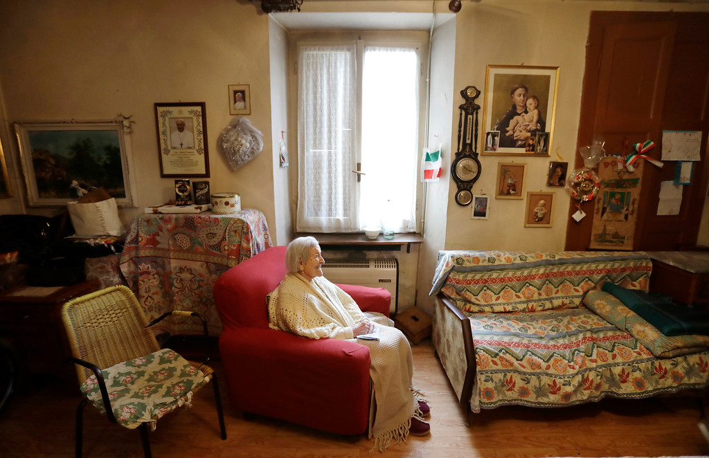 . Emma Morano, 117 years hold, sits in her home in the day of her birthday in Verbania, Italy, Tuesday, Nov. 29, 2016.  At 117 years of age, Emma is now the oldest person in the world and is believed to be the last surviving person in the world who was born in the 1800s, coming into the world on Nov. 29, 1899. (AP Photo/Antonio Calanni)