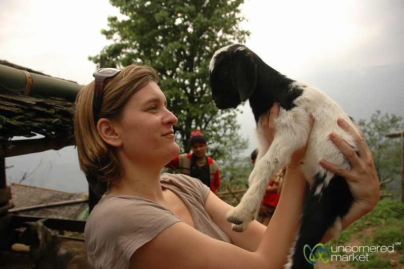 Agathe and Her New Friend - Sikkim