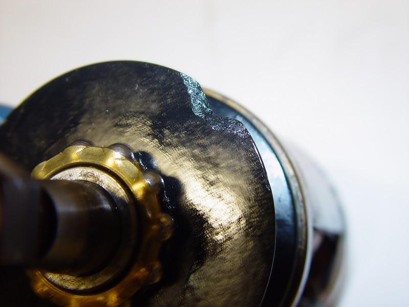 Broken off bit of the magneto oil slinger disk