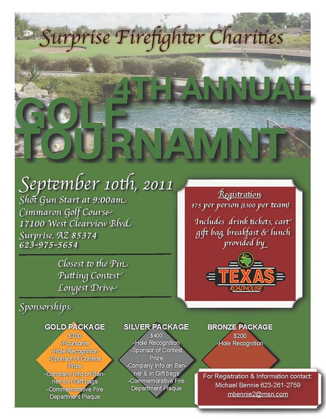 Surprise Firefighters Charities 4th Annual Golf Tournament