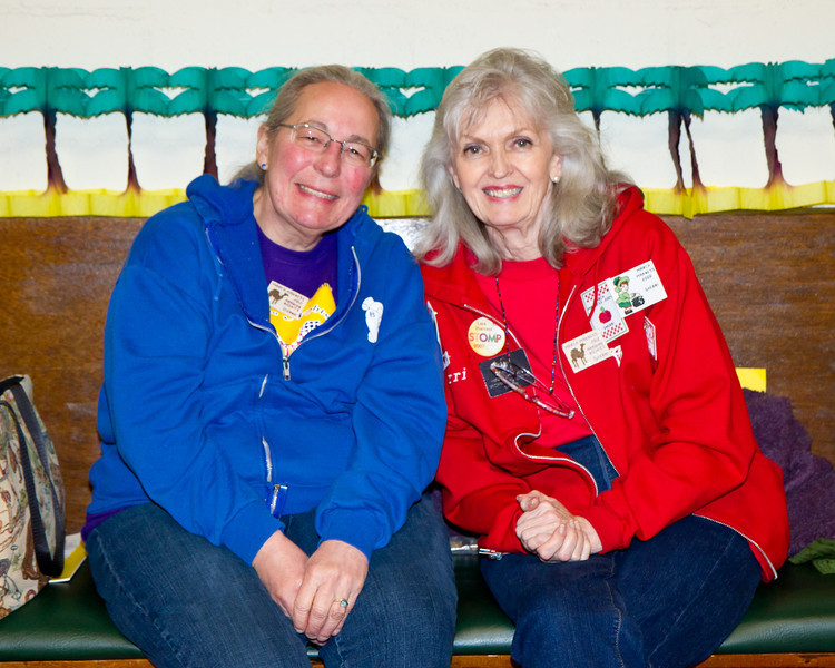 Donna and Sherri at March Madness 2012.