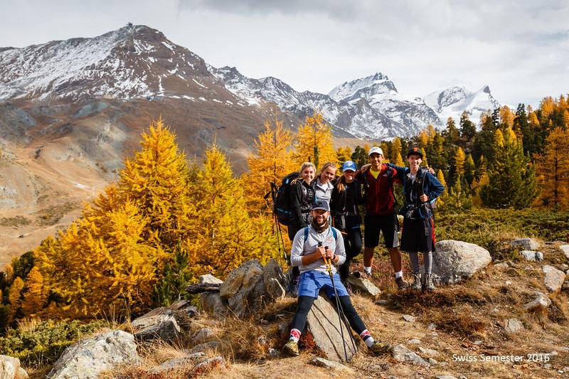 MT, Mr. Bollag-Miller, Penelope, Ashlyn, Neel, and Matt during their hike