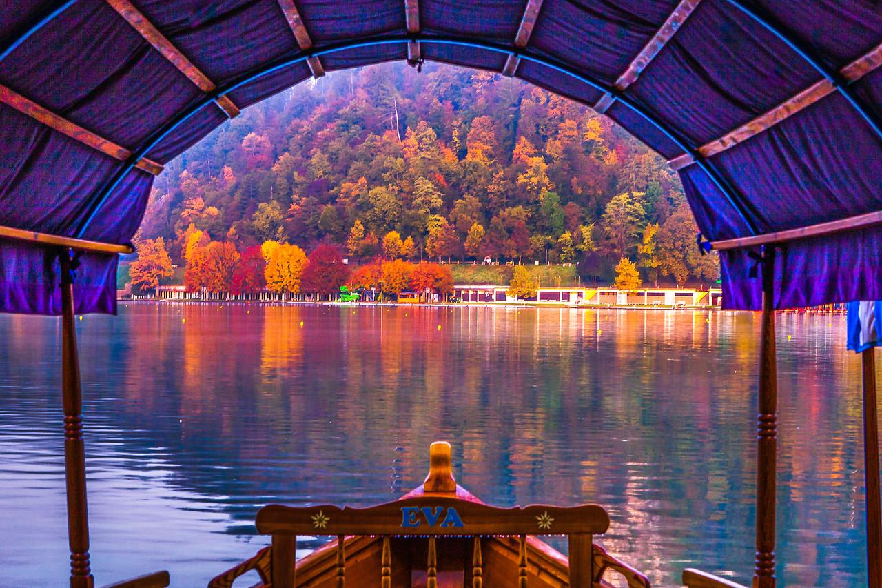 斯洛文尼亚布莱德湖(Lake Bled),湖边看景