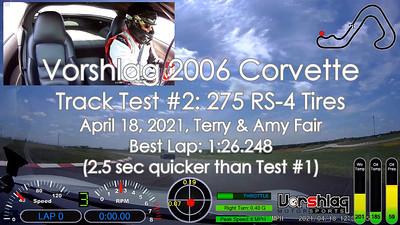 C6 Track Test #2, MSR-C, April 18, 2021